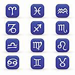 vector set of various zodiac signs Stock Photo - Royalty-Free, Artist: emirsimsek                    , Code: 400-05702004