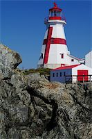 East Quaddy Light on the east coast of New Brunswick Stock Photo - Royalty-Freenull, Code: 400-05703035