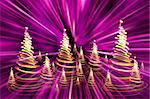 color christmas lights as very nice christmas tree Stock Photo - Royalty-Free, Artist: jonnysek                      , Code: 400-05703153