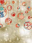 Christmas baubles on elegant background. EPS 8 vector file included Stock Photo - Royalty-Free, Artist: ghostintheshell               , Code: 400-05703251