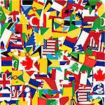 Seamless pattern with world's flags Stock Photo - Royalty-Free, Artist: hibrida13                     , Code: 400-05704422