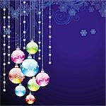 elegant christmas background with balls Stock Photo - Royalty-Free, Artist: 25081972                      , Code: 400-05704440