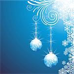 elegant christmas background with balls Stock Photo - Royalty-Free, Artist: 25081972                      , Code: 400-05704442