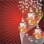elegant christmas background with balls Stock Photo - Royalty-Free, Artist: 25081972                      , Code: 400-05704444