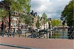 typical view over an amsterdam canal Stock Photo - Royalty-Free, Artist: hansenn                       , Code: 400-05704476