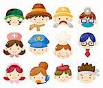 cartoon people job face icons Stock Photo - Royalty-Free, Artist: notkoo2008                    , Code: 400-05704533