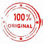 Illustration of hundred percent original grungy ink stamp - vector Stock Photo - Royalty-Free, Artist: lupobianco                    , Code: 400-05704602