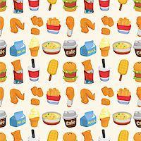 sandwich wrapper - seamless fast food pattern  Stock Photo - Royalty-Freenull, Code: 400-05704900