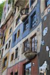 Facade of Hundertwasser Haus with terraces  - Vienna Stock Photo - Royalty-Free, Artist: lindom                        , Code: 400-05704911