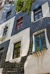 Colorful Facade  (close up)- Hundertwasser House - Vienna Stock Photo - Royalty-Free, Artist: lindom                        , Code: 400-05704912