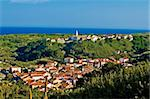 Mediterranean town and amazing green landscape, Island of Susak, Croatia, Stock Photo - Royalty-Free, Artist: xbrchx                        , Code: 400-05705210