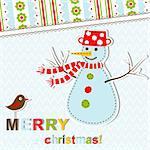 Template christmas greeting card, vector illustration Stock Photo - Royalty-Free, Artist: Tolchik                       , Code: 400-05705666