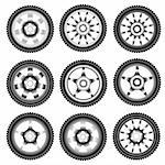 automotive wheel with alloy wheels Stock Photo - Royalty-Free, Artist: aarrows                       , Code: 400-05705693