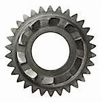 Machine gear, metal cogwheel. Isolated on white. Stock Photo - Royalty-Free, Artist: donatas1205                   , Code: 400-05705735