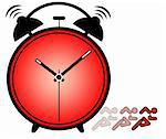 Concept of importance of time showing ringing alarm clock Stock Photo - Royalty-Free, Artist: smarnad                       , Code: 400-05705914