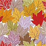 abstract autumn vector seamless pattern with leaves Stock Photo - Royalty-Free, Artist: SelenaMay                     , Code: 400-05706310