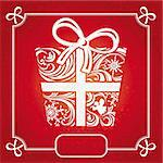 abstract decorative red Christmas card vector illustration Stock Photo - Royalty-Free, Artist: SelenaMay                     , Code: 400-05706315