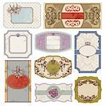 set of retro vintage labels vector illustration Stock Photo - Royalty-Free, Artist: SelenaMay                     , Code: 400-05706334