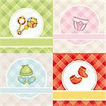 abstract set of cute vector baby cards Stock Photo - Royalty-Free, Artist: SelenaMay                     , Code: 400-05706339