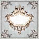 abstract retro vintage floral frame vector illustration Stock Photo - Royalty-Free, Artist: SelenaMay                     , Code: 400-05706345
