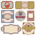 set of retro vintage labels vector illustration Stock Photo - Royalty-Free, Artist: SelenaMay                     , Code: 400-05706347