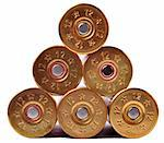 12 gauge shtogun shells used for hunting Stock Photo - Royalty-Free, Artist: ruigsantos                    , Code: 400-05706427
