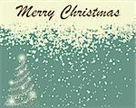 Vintage retro vector Christmas (New Year) card for design use