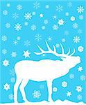 vector illustration of a deer Stock Photo - Royalty-Free, Artist: lilac                         , Code: 400-05706606