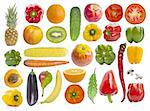 Set of fruits and vegetables isolated on white background Stock Photo - Royalty-Free, Artist: A7880S                        , Code: 400-05707027