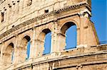 Colosseum in Rome with blue sky, landmark of the city Stock Photo - Royalty-Free, Artist: Perseomedusa                  , Code: 400-05707033