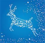 vector illustration of a reindeer Stock Photo - Royalty-Free, Artist: lilac                         , Code: 400-05708036