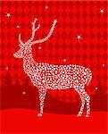   Shining Christmas deer made from stars   Stock Photo - Royalty-Free, Artist: Dazdraperma                   , Code: 400-05709328