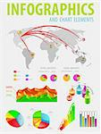 Infographic set with colorful charts. Vector illustration Stock Photo - Royalty-Free, Artist: MiloArt                       , Code: 400-05709779