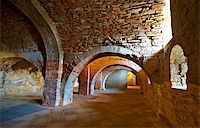 Vaulted Dungeon of Royal Monastery in Aragon, Spain Stock Photo - Royalty-Freenull, Code: 400-05710474