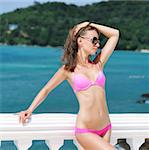 Girl on a tropical resort Stock Photo - Royalty-Free, Artist: haveseen                      , Code: 400-05711145
