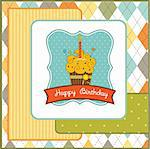 Happy Birthday cupcake Stock Photo - Royalty-Free, Artist: balasoiu                      , Code: 400-05711253