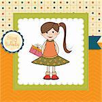 Excited young girl she hide a special gift Stock Photo - Royalty-Free, Artist: balasoiu                      , Code: 400-05711260