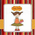 Excited young girl she hide a special gift Stock Photo - Royalty-Free, Artist: balasoiu                      , Code: 400-05711262