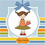 Excited young girl she hide a special gift Stock Photo - Royalty-Free, Artist: balasoiu                      , Code: 400-05711268