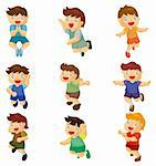 cartoon child jump icons  Stock Photo - Royalty-Free, Artist: notkoo2008                    , Code: 400-05711979