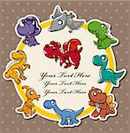 dinosaur card  Stock Photo - Royalty-Free, Artist: notkoo2008                    , Code: 400-05711984