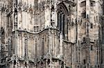 Exterior detail from Stephansdom cathedral - Vienna, Austria.