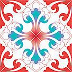 Background of colorful and fashion seamless floral pattern