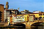 Ponte Vecchio at sunset, Florence, Italy Stock Photo - Royalty-Free, Artist: rechitansorin                 , Code: 400-05713438