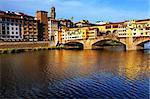 Ponte Vecchio at sunset, Florence, Italy Stock Photo - Royalty-Free, Artist: rechitansorin                 , Code: 400-05713439
