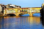 Ponte Vecchio at sunset, Florence, Italy Stock Photo - Royalty-Free, Artist: rechitansorin                 , Code: 400-05713440
