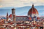 The panorama of Florence, Italy, Europe Stock Photo - Royalty-Free, Artist: rechitansorin                 , Code: 400-05713450