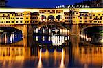 Florence and the Arno river at night Stock Photo - Royalty-Free, Artist: rechitansorin                 , Code: 400-05713454