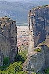 A view of Kalampaka town among the rocks of Meteora, central Greece Stock Photo - Royalty-Free, Artist: alexandr6868                  , Code: 400-05713580