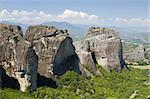 The impressive rocks of Meteora, central Greece Stock Photo - Royalty-Free, Artist: alexandr6868                  , Code: 400-05713581